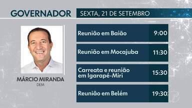 Confira a agenda de candidatos ao Governo do Pará para este sábado - Candidatos cumprem agenda de campanha na capital e no interior do estado.
