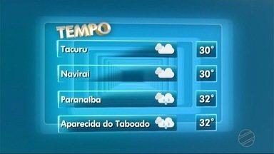 Meteorologia prevê possibilidade de chuva no leste de MS - Entre as cidade onde pode chover estão Paranaíba e Aparecida do Taboado.