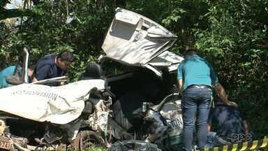 Motorista morre em acidente na PR-281, no sudoeste - A batida foi entre Dois Vizinhos e São Jorge D'Oeste