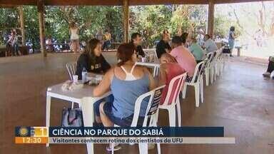 Cientistas da UFU realizam bate-papo sobre o 'Setembro Amarelo' em Uberlândia - Primeira edição do 'Pergunte a um cientista' ocorreu neste domingo (23) no Parque do Sabiá.