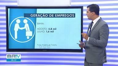 Governo federal aponta crescimento das vagas de emprego no mercado de trabalho na Bahia - Dados referentes ao mês de agosto deste ano são três vezes maiores que os de julho.