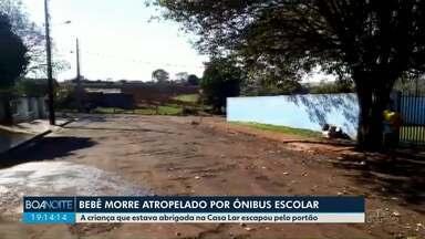 Criança morre atropelada por ônibus do transporte escolar em Jardim Alegre - Ele era abrigado da casa lar