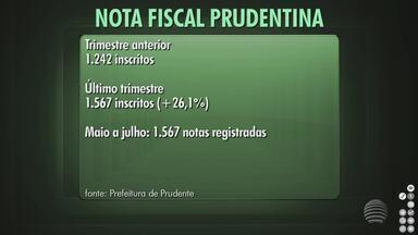 Cresce a adesão ao programa Nota Fiscal Prudentina - Sistema completou um ano de funcionamento.