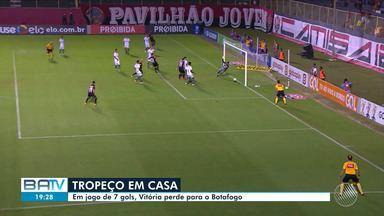 Vitória é batido pelo Botafogo dentro de casa e técnico deve fazer mudanças no time - Equipe baiana é a mais vazada do Campeonato Brasileiro.