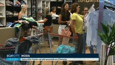 Feira Alto Verão segue até esta terça-feira em Cianorte - Os shoppings vão ficar abertos em horário especial, até as 19h30.