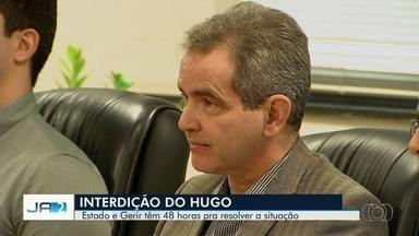 Hugo é interditado por falta de insumos e medicamentos, em Goiânia - Após reunião, gestão tem até 48 para resolver problemas da unidade.
