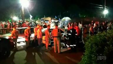 Jovem atropela oito pessoas e é morto pela PM - Confusão foi numa festa.