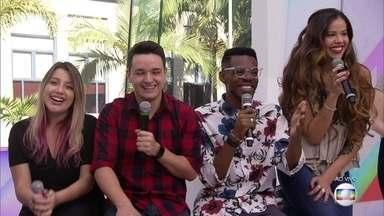 Finalistas do 'The Voice Brasil' invadem o 'Vídeo Show' - Léo Pain, Erica Natuza, Kevin Ndjana e Isa Guerra falam sobre as expectativas para a final, que acontece nesta quinta-feira, 27/09