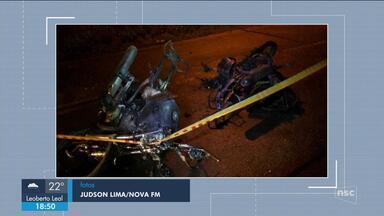 Giro de notícias: Jovem morre carbonizado após motocicletas colidirem em Rio do Sul - Giro de notícias: Jovem morre carbonizado após motocicletas colidirem em Rio do Sul