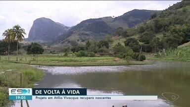 """Prêmio Biguá: projeto em Atílio Vivacqua recupera nascentes - Esse foi o vencedor da categoria """"Prefeitura Municipal""""."""