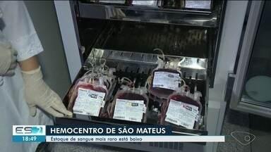 Estoque de sangue do hemocentro de São Mateus está baixo - São necessárias doações dos tipos mais raros.