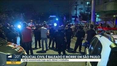 Policial civil é assassinado na Zona Oeste de SP - Criminosos fizeram vários disparos e fugiram abandonando carro