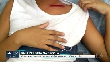 Aluno de escola municipal leva tiro de raspão em horário de aula na Penha - O caso aconteceu na manhã desta quarta-feira (04), quando o menino estava dentro da escola. O hospital Getúlio Vargas divulgou um boletim dizendo que o estudante passa bem.