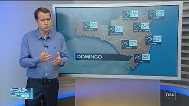 Domingo (7) deve ser de nebulosidade com chance de chuva passageira - Domingo (7) deve ser de nebulosidade com chance de chuva passageira
