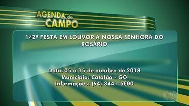 Agenda do Campo: veja os eventos da semana em Goiás - Festa em louvor a Nossa Senhora do Rosário ocorre em Catalão.
