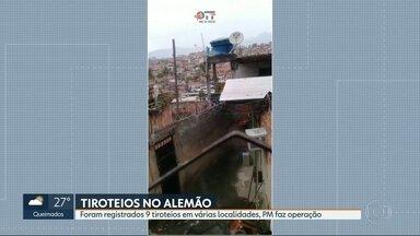 Aplicativo registra 14 tiroteios na manhã desta terça (9) no Rio de Janeiro - Na manhã desta terça (9), uma equipe do Exército foi atacada a tiros por bandidos na Estrada da Garganta, no bairro de Santa Rosa, em Niterói. Foram registrados 14 tiroteios no Rio na manhã desta terça.