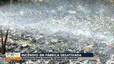 Bombeiros fazem limpeza de produto inflamável em fábrica desativada, no Cariri - Saiba mais em g1.com.br/ce