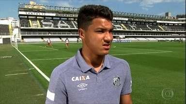 Marcos Leonardo é a nova promessa da base do Santos - Marcos Leonardo é a nova promessa da base do Santos