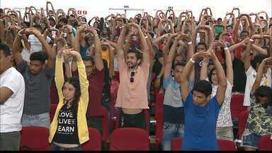 Se Liga no Enem Paraíba : estudantes de escolas estaduais na reta final para os exames - O #seliganoenempb tem oficinas temáticas, práticas laboratoriais, orientação de estudos e educação emocional.