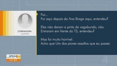 Cobradora relata assalto a ônibus violento em Manaus - Segundo cobradora, esse seria o pior assalto que ela vivenciou.