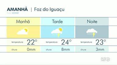 Tempo segue chuvoso na região - Veja a previsão no mapa.