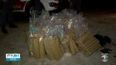 Carga de grande quantidade de maconha é apreendida em Santa Mercedes - Entorpecente estava em um caminhão de sucata.