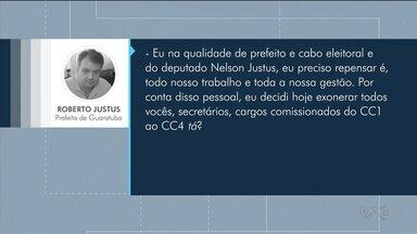 Prefeito de Guaratuba ameaça demitir funcionários porque o pai teve poucos votos - O prefeito é Roberto Justus, filho do deputado estadual reeleito, Nelson Justus.