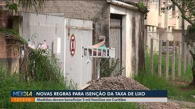 Prefeitura vai analisar pedidos para isenção da cobrança da taxa de lixo - Medida deve beneficiar três mil famílias em Curitiba.