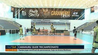 Caramuru enfrenta o Palmas pela semifinal do paranaense de vôlei - Jogo é nesta quarta-feira (10) às 20h00.