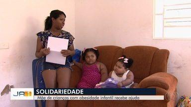 Após reportagem, mãe recebe ajuda para tratamento de crianças obesas - Família quer descobrir o motivo da obesidade das meninas.