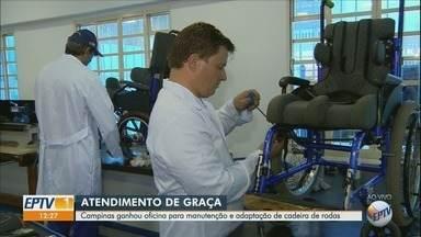Campinas ganha oficina para manutenção e adaptação de cadeira de rodas - Serviço gratuito é oferecido na Casa da Criança Paralítica.