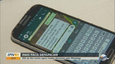 DIG de São Carlos começa a receber denúncias pelo WhatsApp - Número de contato é o (16) 3374-1984.
