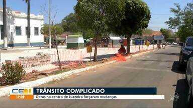 Obras no centro de Juazeiro causam mudanças no trânsito da região - Saiba mais em g1.com.br/ce