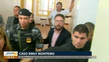 Caso Emilly Monteiro assassinada pelo companheiro também PM completará 2 meses, no AP - Corregedoria-Geral da PM acompanha processo do soldado Kássio de Mangas que está preso
