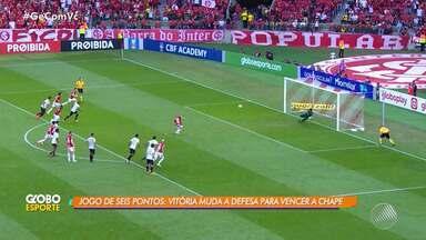 Técnico do Vitória faz mudanças na defesa para jogo contra a Chapecoense - Times se enfrentam na Arena Condá, em Santa Catarina, na manhã do próximo domingo (14).