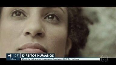 Marielle Franco é destaque em campanha da Anistia Internacional - A vereadora do Psol, assassinada em março, e outras 9 mulheres que lutam pelos direitos humanos no mundo fazem parte da campanha. A ideia é criar uma pressão global pelos direitos delas.
