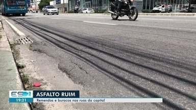 Asfalto desnivelado e cheio de remendos causa prejuízos a motoristas de Vitória - Quem dirige pelas ruas a capital reclama da situação.