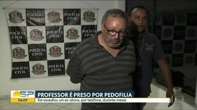 Professor é preso ontem em flagrante por pedofilia em SP - Ele assediou por meses ex-aluno de 13 anos, até que resolveu marcar um encontro.