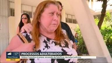 A ex-deputada e ex-prefeita de Magé, Núbia Cozzolino, foi presa por fraude - Ela é acusada de falsificar decisões judiciais com a ajuda de advogados, que também foram presos.