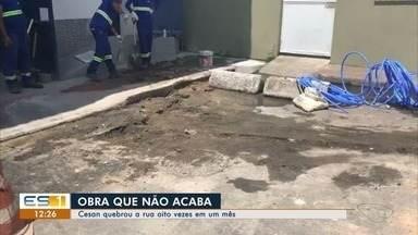 Cesan quebrou uma rua em Forte São João oito vezes em um mês - Um empresário da região reclama das obras.
