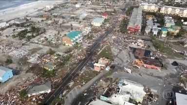 Equipes buscam sobreviventes do furacão que devastou cidades do norte da Flórida - Furacão Michael foi rebaixado a tempestade pós-tropical, mas ainda causa enchentes em outros estados, como a Virgínia e as Carolinas do Norte e do Sul, nos Estados Unidos.