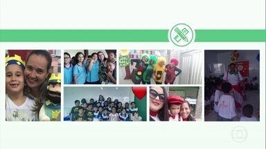 Dia dos Professores: telespectadores enviam fotos em homenagens aos professores - As fotos foram enviadas para o WhatsApp da TV Globo.