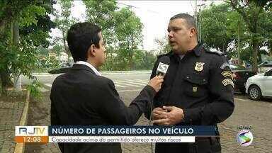 Comandante da Guarda Municipal orienta sobre limite de passageiros em veículos - Capacidade acima do permitido oferece riscos a todos.