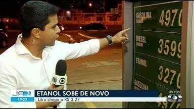 Preço de combustíves sobe em Goiânia - Litro de etanol é encontrado na capital por até R$ 3,27.