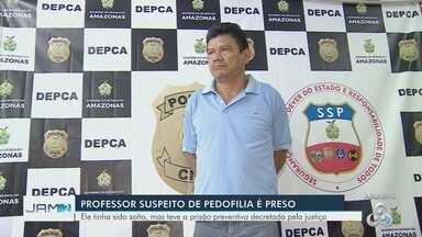 Professor suspeito de abusar sexualmente de alunas de 8 e 9 anos volta a ser preso no AM - Suspeito chegou a ser solto em audiência de custódia, mas voltou a ser preso após nova decisão judicial. Professor atuava na rede municipal de Manaus.