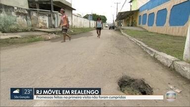 O RJ Móvel dessa quinta-feira foi em Realengo - Moradores da rua Baião querem obras de drenagem e pavimentação