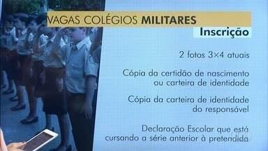 Termina nesta sexta-feira inscrições para vagas em Colégios Militares de Goiás - Sorteio deve ser feito ainda neste mês.