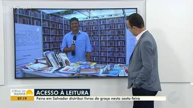 Acesso à leitura: feira distribui livros de graça em Salvador - Veja como participar da ação.