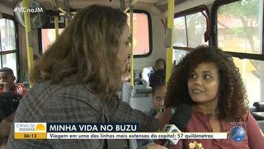 'Minha Vida no Buzu' anda em parte da linha de ônibus mais longa de Salvador, com 57 km - Confira o quadro desta terça-feira (23).