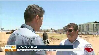 Obra de reurbanização começa na orla de Marataízes - A praça estará pronta dentro de um ano.